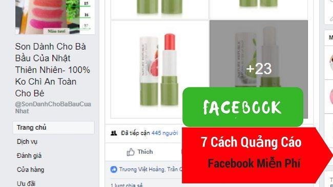 7 cách tự chảy quảng Cáo Facebook Miễn Phí 0Đ